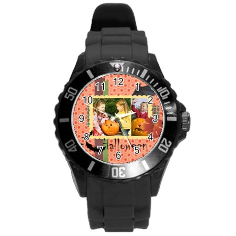 Helloween By Helloween   Round Plastic Sport Watch (l)   2yeh652n232f   Www Artscow Com Front