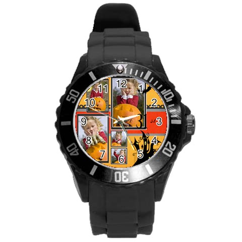 Helloween By Helloween   Round Plastic Sport Watch (l)   1ma3b24nyw19   Www Artscow Com Front