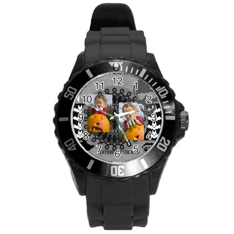 Helloween By Helloween   Round Plastic Sport Watch (l)   Jstdiufov1rg   Www Artscow Com Front