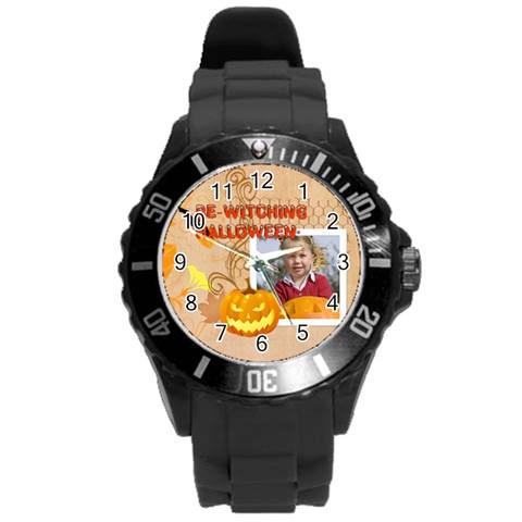 Helloween By Helloween   Round Plastic Sport Watch (l)   Znz0ur28gxtg   Www Artscow Com Front