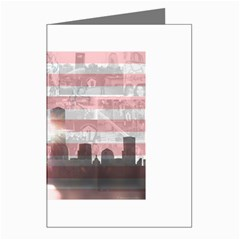 WTC 911 Flag Tribute Greeting Card by DesignMonaco