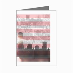 WTC 911 Flag Tribute Mini Greeting Card by DesignMonaco
