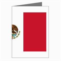 Mexican Flag Greeting Card by DesignMonaco