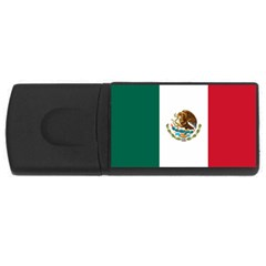 Mexican Flag USB Flash Drive Rectangular (1 GB) by DesignMonaco