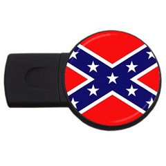 US Confederate Battle Flag Bright USB Flash Drive Round (2 GB) by DesignMonaco