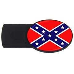 US Confederate Battle Flag Bright USB Flash Drive Oval (2 GB) by DesignMonaco