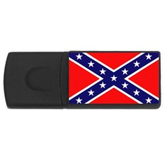 US Confederate Battle Flag Bright USB Flash Drive Rectangular (1 GB) by DesignMonaco