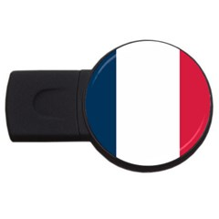 French Flag USB Flash Drive Round (1 GB) by DesignMonaco