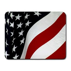 American Flag Waving Small Mousepad by DesignMonaco