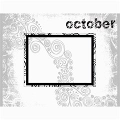 2019 Faded Glory Monochrome Calendar By Catvinnat Month