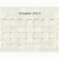 2015 Damask Wedding Calendar  By Catvinnat   Wall Calendar 11  X 8 5  (12 Months)   Zpda3t63l3vt   Www Artscow Com Oct 2015