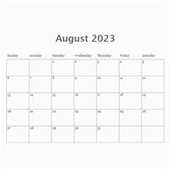 2015 Simple Silver Calendar By Catvinnat   Wall Calendar 11  X 8 5  (12 Months)   Okpgdeyvbk2j   Www Artscow Com Aug 2015