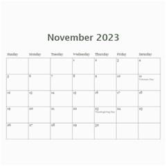 2015 Simple Silver Calendar By Catvinnat   Wall Calendar 11  X 8 5  (12 Months)   Okpgdeyvbk2j   Www Artscow Com Nov 2015