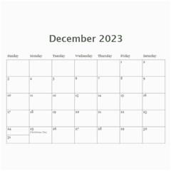 2015 Simple Silver Calendar By Catvinnat   Wall Calendar 11  X 8 5  (12 Months)   Okpgdeyvbk2j   Www Artscow Com Dec 2015