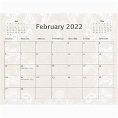 2015 Twin Hearts Wedding Celebration Calendar  By Catvinnat   Wall Calendar 11  X 8 5  (12 Months)   6nd8f1p9heh0   Www Artscow Com Feb 2015