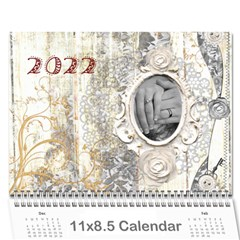 2015 Weathered Floral Calendar By Catvinnat   Wall Calendar 11  X 8 5  (12 Months)   1v3cn31fswo7   Www Artscow Com Cover