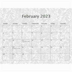 2015 Weathered Floral Calendar By Catvinnat   Wall Calendar 11  X 8 5  (12 Months)   1v3cn31fswo7   Www Artscow Com Feb 2015