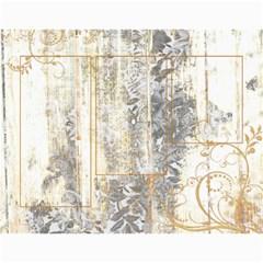 2015 Weathered Floral Calendar By Catvinnat   Wall Calendar 11  X 8 5  (12 Months)   1v3cn31fswo7   Www Artscow Com Month