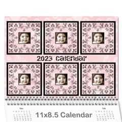 2015 Art Nouveau 100% Love Pastel Pink Calendar By Catvinnat   Wall Calendar 11  X 8 5  (12 Months)   Tjteewbvyizh   Www Artscow Com Cover