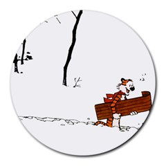 Calvin & Hobbes 8  Mouse Pad (round) by Contest1696586