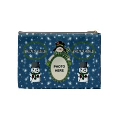Snow Days Medium Cosmetic Bag By Joy Johns   Cosmetic Bag (medium)   Dxxgi8sl3nrg   Www Artscow Com Back