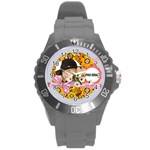 kids - Round Plastic Sport Watch (L)