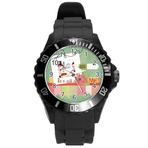 Kids By Kids   Round Plastic Sport Watch (l)   5s2baxmg1rda   Www Artscow Com Front