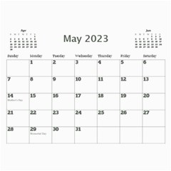 My Picture Calendar (any Year) By Deborah   Wall Calendar 11  X 8 5  (12 Months)   Ovy7scx1acd9   Www Artscow Com May 2019