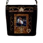 Brown Large Flap Closure Messenger Bag - Flap Closure Messenger Bag (L)