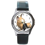 boxer Round Metal Watch
