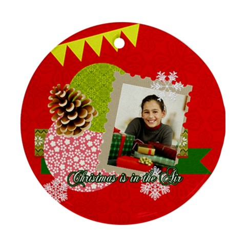 Christmas By Merry Christmas   Ornament (round)   Ypbonhhibd91   Www Artscow Com Front