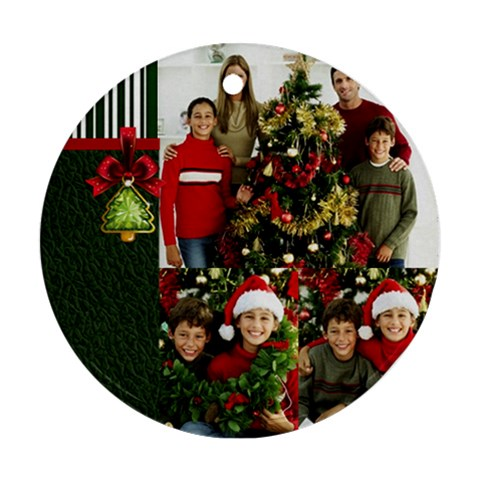 Christmas By Merry Christmas   Ornament (round)   N04xk4brzpcd   Www Artscow Com Front