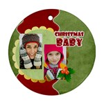 christmas - Round Ornament (Two Sides)