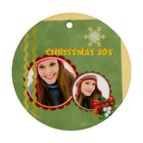 Christmas By Merry Christmas   Ornament (round)   Ywqw25ukgkl1   Www Artscow Com Front