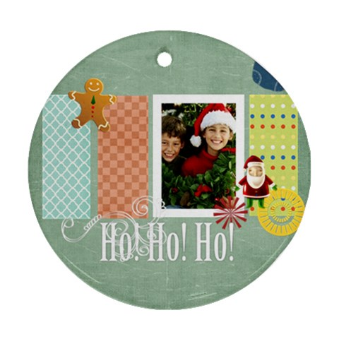 Christmas By Merry Christmas   Ornament (round)   Q6qki267ayw7   Www Artscow Com Front