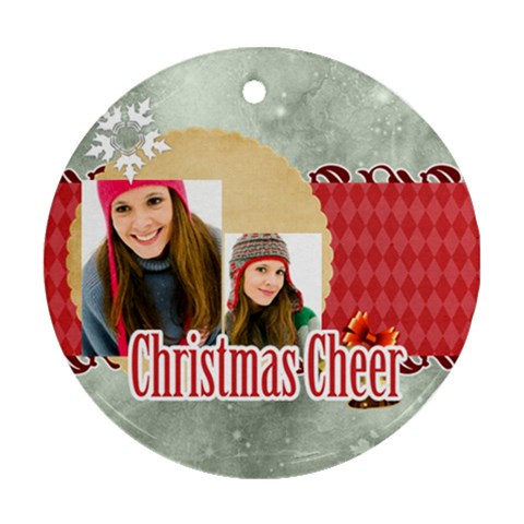 Christmas By Merry Christmas   Ornament (round)   Sq8znrdz1bo2   Www Artscow Com Front