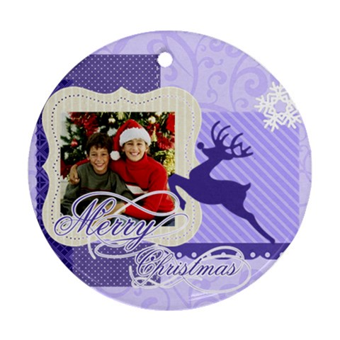 Christmas By Merry Christmas   Ornament (round)   63wltoqvvagh   Www Artscow Com Front