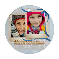 Christmas By Merry Christmas   Round Ornament (two Sides)   Jtjxmjxw2kfs   Www Artscow Com Front