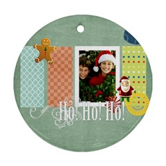 Christmas By Merry Christmas   Round Ornament (two Sides)   Jha76wjlztnt   Www Artscow Com Back