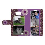 Purple Samsung Galaxy S2 Woven Leather Folio Case - Samsung Galaxy S2 Woven Pattern Leather Folio Case