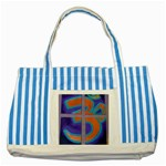 tote 2 - Striped Blue Tote Bag