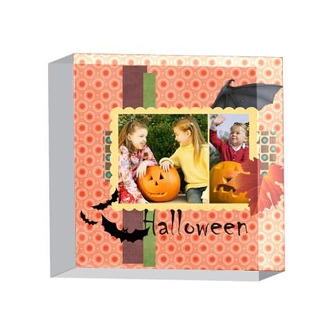 Helloween By Helloween   4 x 4  Acrylic Photo Block   C4g33bg2ru22   Www Artscow Com Front