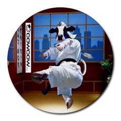 Cowcow Com 8  Mouse Pad (round) by Contest1624092