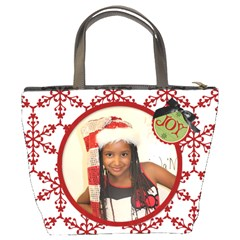 Christmas Bag Ja By Meredith Hazel   Bucket Bag   9xw41x1j9q3u   Www Artscow Com Back