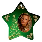 My Sparkle of Green Christmas Star Ornament (2 sided) - Star Ornament (Two Sides)