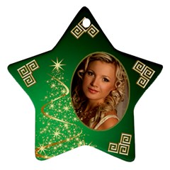 My Sparkle Of Green Christmas Star Ornament (2 Sided) By Deborah   Star Ornament (two Sides)   W85n9rz5xfke   Www Artscow Com Back