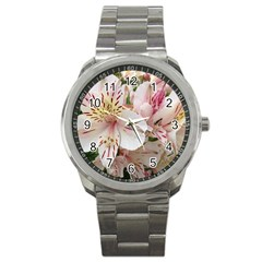 Flower Alstromeria Sport Metal Watch by ADIStyle
