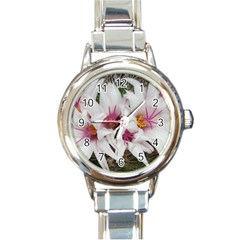Bloom Cactus  Round Italian Charm Watch by ADIStyle