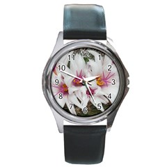 Bloom Cactus  Round Metal Watch (silver Rim) by ADIStyle