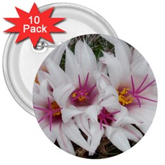 Bloom Cactus  3  Button (10 Pack) by ADIStyle